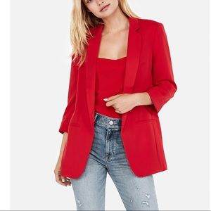 Rolled sleeve boyfriend blazer from express